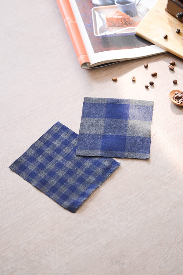 # 1079921 <br> [LIMITED] <br> Big double gauze _ Blues Black Part2 Navy Check
