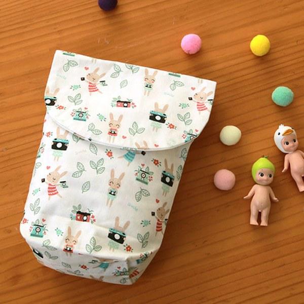 DTP Cotton Fabric 20) Sweet Animal Cockatoo Rabbit _TJP1043
