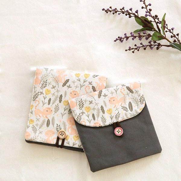 DTP cotton fabric 20) Sweet animal cat garden _TJP1040
