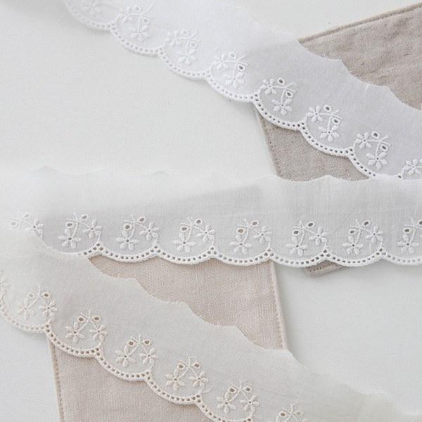 1 peel) Cotton lace _ Three chestnut cross section