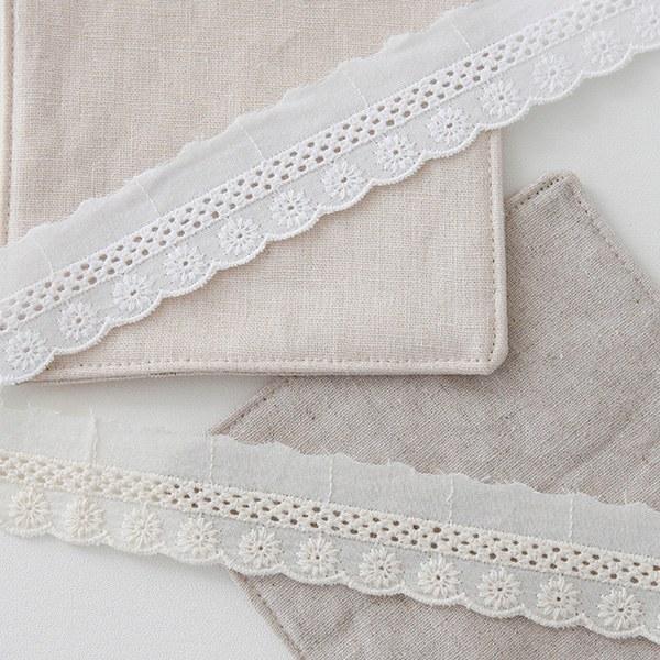 1 peel) Cotton lace _ 2 petal ladder