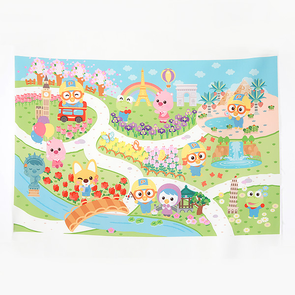 Teflon water repellent - 1 cut of Pororo and friends traveling the world