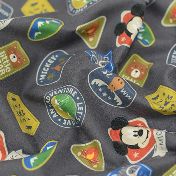 """Brushed Cotton-Disney-Mickey Camping Wappen(42"""")"""