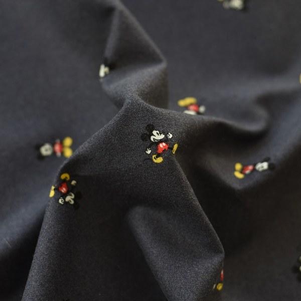 "Brushed Cotton-Disney-Mickey Bonbon Charcoal(42"")"