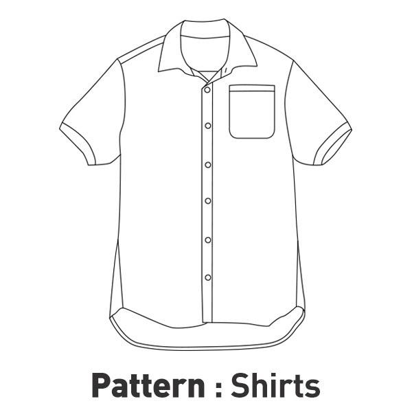 Men's Sleeve Shirt Pattern CTV-096(Adult)
