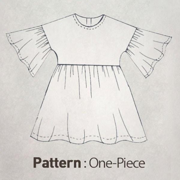 Children's Pattern - Balloon Sleeve Dress CTV-001