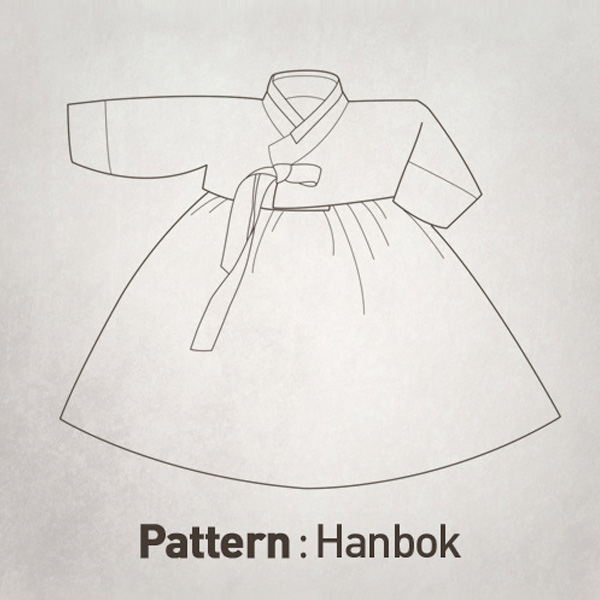 Girls' Hanbok (Jeogori+Skirt) Pattern +A4 Jobawi CTV-021(Child)