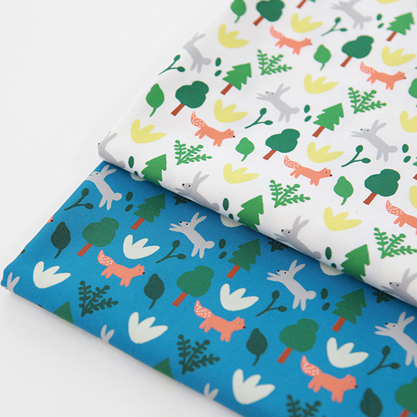 "Cotton sheeting-Mallang Luna, Animals Forest, 2colors(44"")"