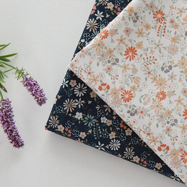 "Cotton sheeting-Sage Flower, 2colors(44"")"
