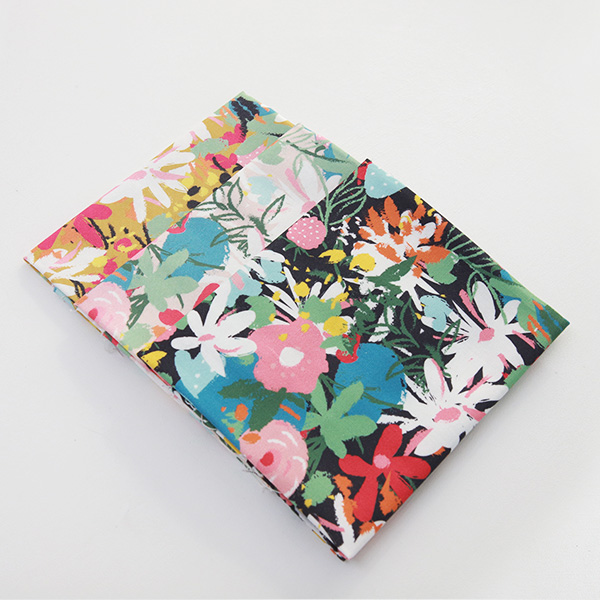"Cotton sheeting-Bell Flower Bloom, 3colors(44"")"