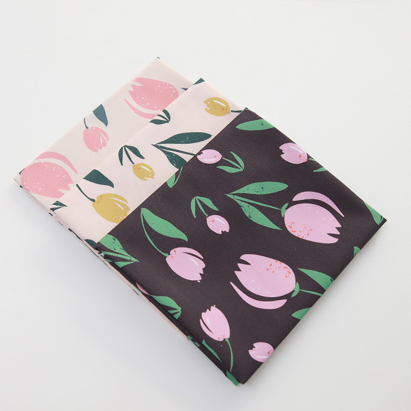 "Cotton sheeting-Bell Flower Tulip, 3colors(44"")"