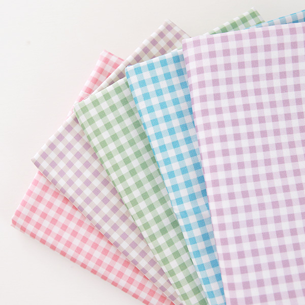 Cotton sheeting-Mammel Check, 5colors(44')