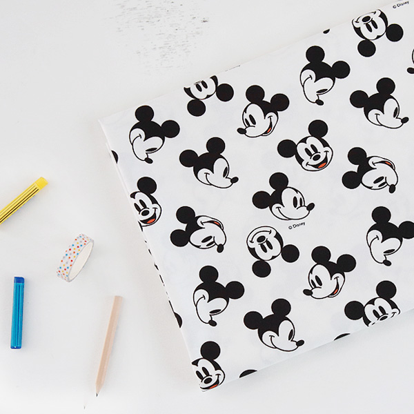 "Cotton sheeting-Disney-Oh Mickey(44"")"