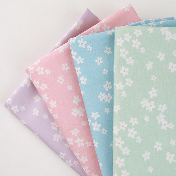 """Cotton sheeting-Mammel Cherry Blossom, 4colors(44"""")"""