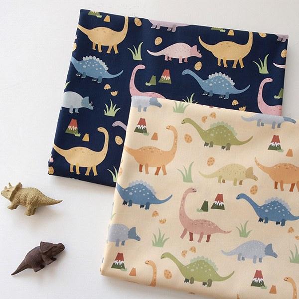 "Cotton sheeting-Good Dino, 2colors(44"")"