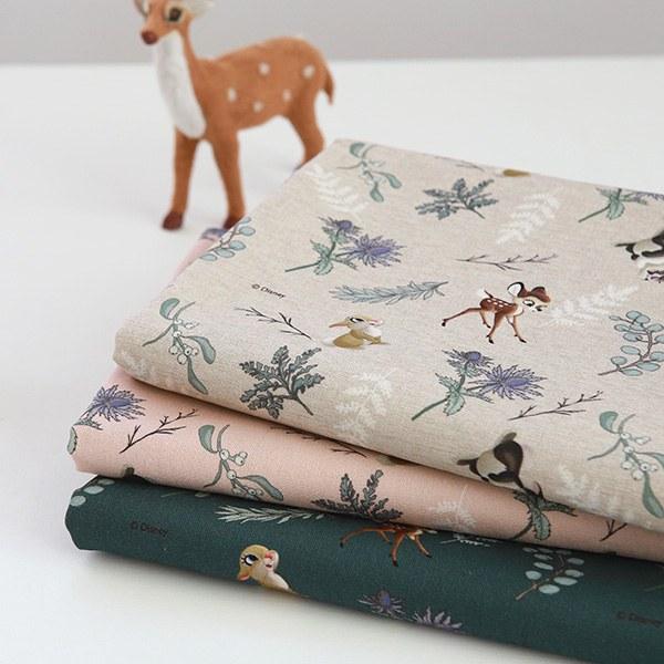"""Linen Cotton-Disney-Little Forest Bambi, 3colors(54"""")"""
